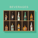 Alcoholic beverages Royalty Free Stock Photo