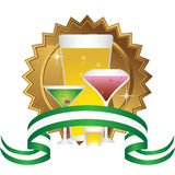 Alcoholic Beverages: Sticker Set Stock Photo