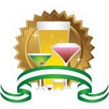 Alcoholic Beverages: Sticker Set Stock Photo