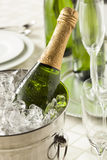 Alcoholic Bubbly Champagne for New Years Stock Photos