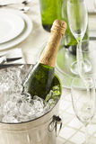 Alcoholic Bubbly Champagne for New Years Royalty Free Stock Image
