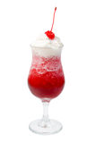 Alcoholic cerise cocktails, isolated Royalty Free Stock Images