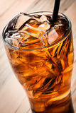 Alcoholic cocktail with cola and ice Royalty Free Stock Photo