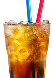Alcoholic cocktail with cola and ice Royalty Free Stock Photography