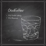 Alcoholic Cocktail Godfather on black board Stock Photo