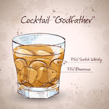 Alcoholic Cocktail Godfather Stock Photo