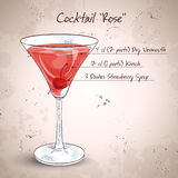 Alcoholic cocktail Rose Royalty Free Stock Photo