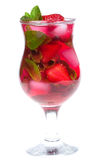Alcoholic cocktail - strawberry mojito Stock Images