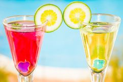 Alcoholic cocktails composition Stock Photography