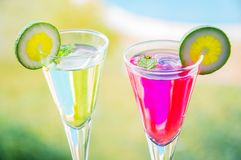 Alcoholic cocktails composition Stock Images