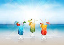 Alcoholic cocktails Royalty Free Stock Images