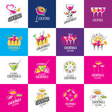 Alcoholic cocktails logo Stock Images