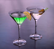Alcoholic cocktails in a martini glass Stock Photo