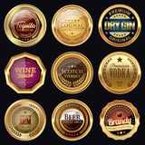 Alcoholic Drink badges. Set of alcoholic drink badges Royalty Free Stock Image