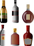 Alcoholic drink bottle Stock Photography