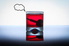 Alcoholic Drink with Car Keys concept drinking and Royalty Free Stock Photos