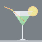 Alcoholic drink in a glass Stock Images