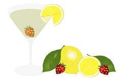 Alcoholic drink - illustration Stock Photo