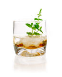 Alcoholic Drink with mint and ice cubes Stock Photos