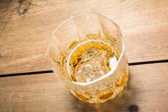 Alcoholic drink on wood table stock photography