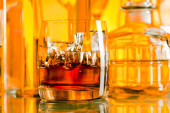 Alcoholic drinks in bar Royalty Free Stock Photo