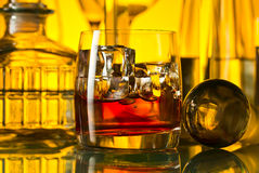 Alcoholic drinks in bar Royalty Free Stock Image
