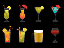 Alcoholic drinks, beer and wine Royalty Free Stock Photos