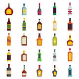 Alcoholic Drinks Bottles Large Vector Set Royalty Free Stock Photo