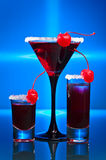 Alcoholic drinks with  cherry Royalty Free Stock Photography