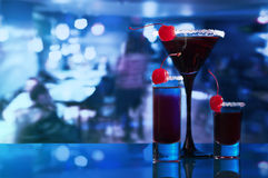Alcoholic drinks with  cherry Stock Photography