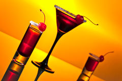 Alcoholic drinks with  cherry Stock Photo