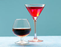 Alcoholic drinks for the festive party Royalty Free Stock Photography
