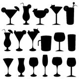 Alcoholic drinks and glasses Royalty Free Stock Photography