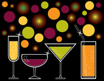 Alcoholic drinks and juice Stock Photography