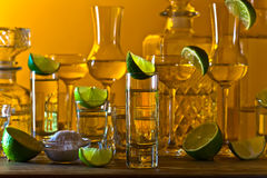 Alcoholic drinks with lime Royalty Free Stock Image