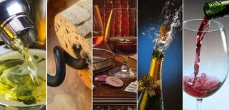 Alcoholic Drinks. Martini, wine, brandy, champagne royalty free stock image