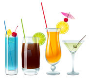 Alcoholic drinks for party stock illustration