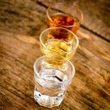 Alcoholic drinks Stock Photography