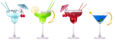 Alcoholic exotic cocktail isolated Royalty Free Stock Images