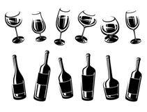 Alcoholic glass collection. Vector Stock Photos