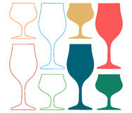 Alcoholic Glass Silhouette Silhoutte Stock Photo
