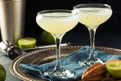 Alcoholic Lime and Gin Gimlet. With a Garnish Royalty Free Stock Image