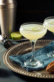 Alcoholic Lime and Gin Gimlet Royalty Free Stock Photo