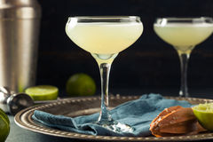 Alcoholic Lime and Gin Gimlet Royalty Free Stock Photos