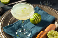 Alcoholic Lime and Gin Gimlet Royalty Free Stock Photography
