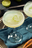 Alcoholic Lime and Gin Gimlet Royalty Free Stock Image