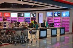 Alcoholic liquor beverages on sale at Dubai airport Duty Free Stock Photo