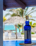 Alcoholic liquor for cocktails at the poolside in Cuba Stock Image