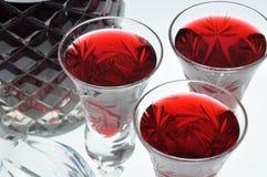 Alcoholic liquors in the glasses Royalty Free Stock Photo