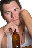 Alcoholic Man Drinking Stock Photos